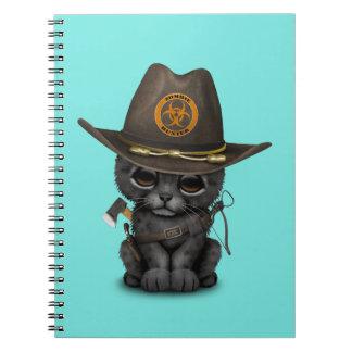 Cute Black Panther Cub Zombie Hunter Spiral Notebook