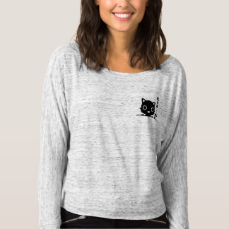 Cute Black Pocket Cat T-Shirt