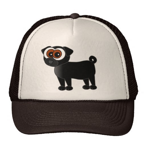 Cute Black Pug Hat