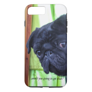 Cute Black Pug With Attitude Photo iPhone 8 Plus/7 Plus Case