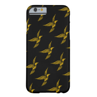 Cute black vintage gold eagle patterns barely there iPhone 6 case