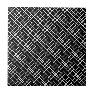 Cute black white abstract design ceramic tile