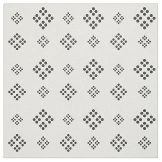 Cute Black White Diamonds Pattern Fabric