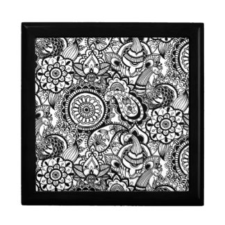 Cute black white floral paisley gift box