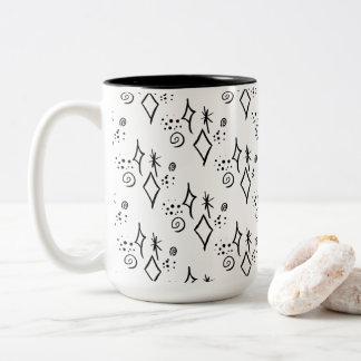 Cute Black & White Galaxy Watercolor Coffee Mug