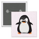 Cute Black  White Penguin And  Funny Moustache Pin