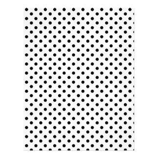 Cute Black White Polka Dots Pattern Flyer Design