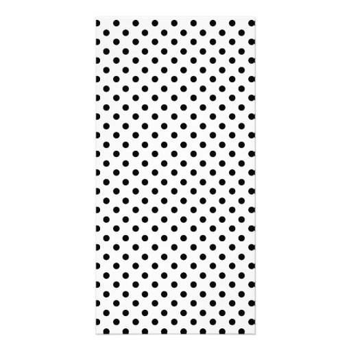 Cute Black White Polka Dots Pattern Photo Greeting Card