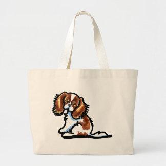 Cute Blenheim CKCS Large Tote Bag