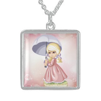 Cute Blond Girl Necklace
