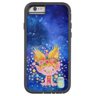 Cute Blond Point Eared Troll and Firefies Tough Xtreme iPhone 6 Case