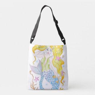 Cute Blonde Mermaid Crossbody Bag