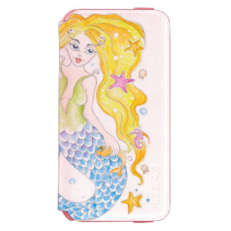 Cute Blonde Mermaid Incipio Watson™ iPhone 6 Wallet Case