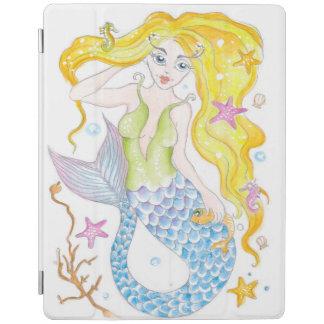 Cute Blonde Mermaid iPad Cover