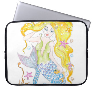 Cute Blonde Mermaid Laptop Sleeve