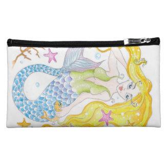 Cute Blonde Mermaid Makeup Bag
