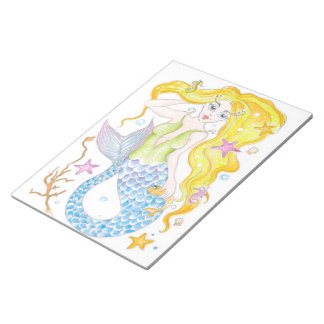 Cute Blonde Mermaid Notepad