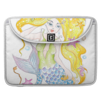 Cute Blonde Mermaid Sleeve For MacBooks