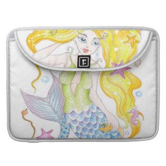 Cute Blonde Mermaid Sleeves For MacBooks
