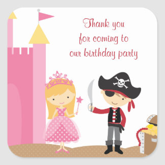 Cute Blonde Princess and PIrate Stickers