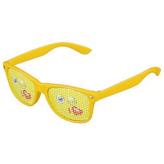 Cute Blow A Kiss Love Emoji Yellow Kids Sunglasses