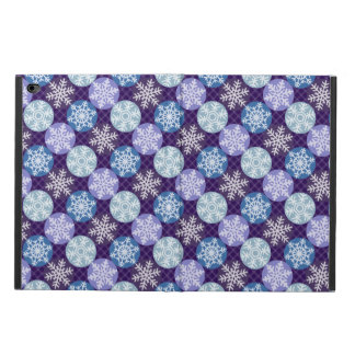 Cute Blue and Violet Snowflakes Winter SeasPattern Powis iPad Air 2 Case