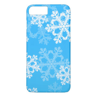 Cute blue and white Christmas snowflakes iPhone 8 Plus/7 Plus Case