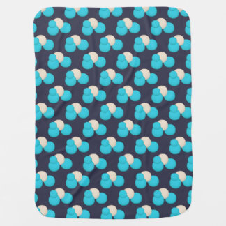 CUTE Blue and White Dot Pattern Baby Blanket