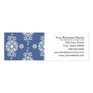 Cute Blue and White Floral Pattern Pack Of Skinny Business Cards