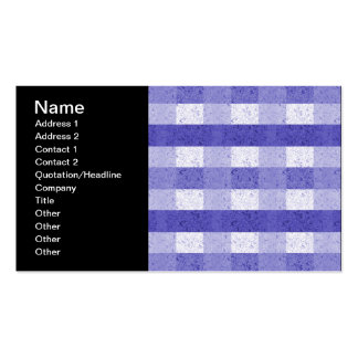 Cute Blue and White Plaid Business Card