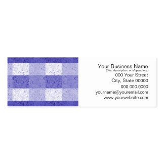 Cute Blue and White Plaid Pack Of Skinny Business Cards