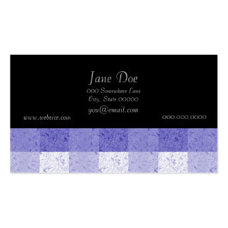 Cute Blue and White Plaid Pack Of Standard Business Cards