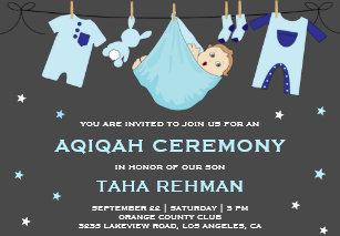 Aqeeqah Invitations Announcements Zazzle Au