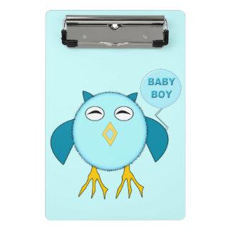 Cute Blue Baby Boy Owl Mini Clipboard