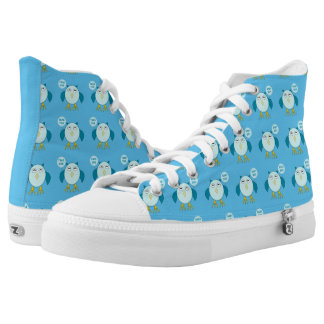 Cute Blue Baby Boy Owl Shoes Printed Shoes