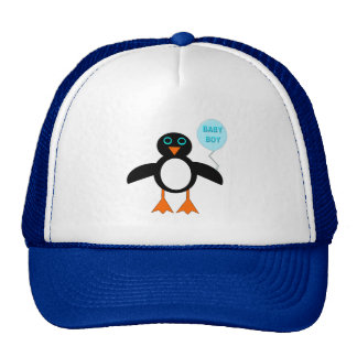 Cute Blue Baby Boy Penguin Hat