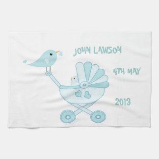 Cute Blue Baby Boy Tea Towel