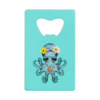 Cute Blue Baby Octopus Hippie