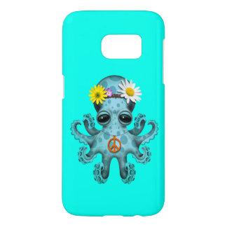 Cute Blue Baby Octopus Hippie