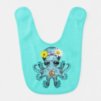 Cute Blue Baby Octopus Hippie Bib