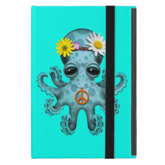 Cute Blue Baby Octopus Hippie Case For iPad Mini