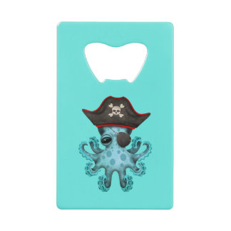 Cute Blue Baby Octopus Pirate