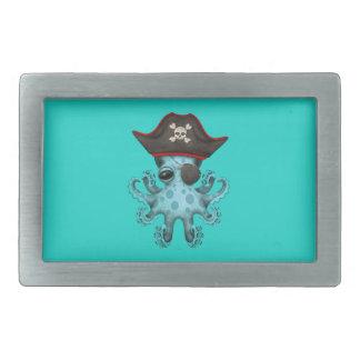 Cute Blue Baby Octopus Pirate Belt Buckle