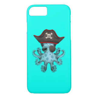 Cute Blue Baby Octopus Pirate iPhone 8/7 Case