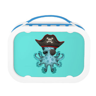 Cute Blue Baby Octopus Pirate Lunch Box