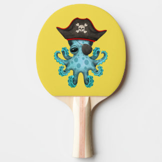 Cute Blue Baby Octopus Pirate Ping Pong Paddle