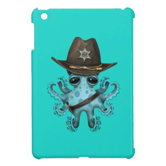 Cute Blue Baby Octopus Sheriff Cover For The iPad Mini