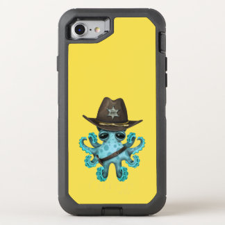 Cute Blue Baby Octopus Sheriff OtterBox Defender iPhone 8/7 Case