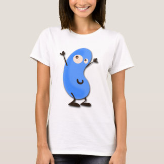Cute Blue Bean Monster T-Shirt