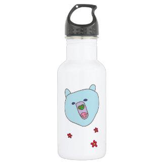 Cute Blue Bear Face Water Bottle